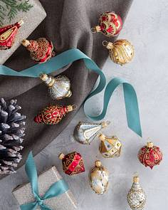 Mini Decorated Ornaments Set of 6 by Balsam Hill