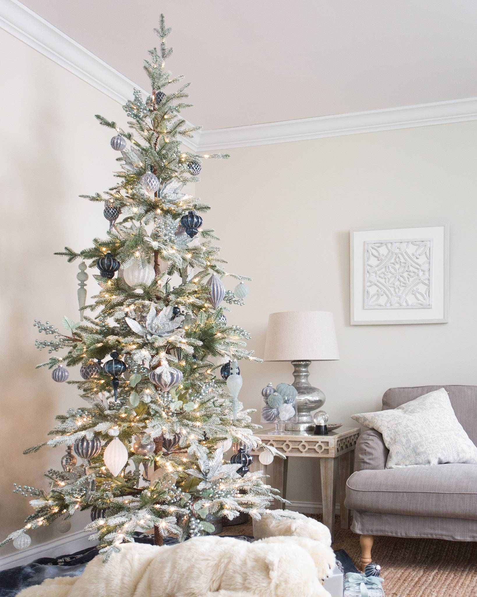 reputable site eb763 61e2f Frosted Alpine Balsam Fir Artificial Christmas Tree   Balsam ...