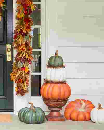 Outdoor Heirloom Pumpkins by Balsam Hill