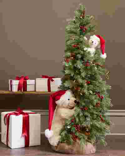 Peek-A-Boo Polar Bear Tree by Balsam Hill SSC 10