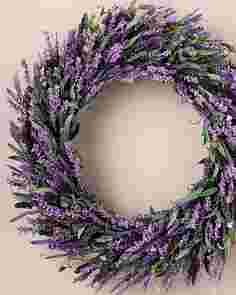 Provencal Lavender Wreath by Balsam Hill SSCR