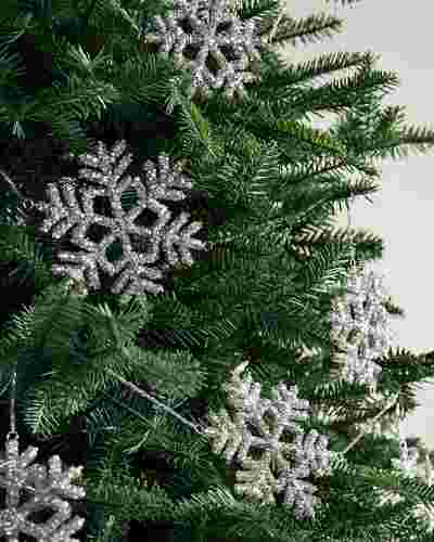 Beaded Snowflake Garland Set of 3 by Balsam Hill