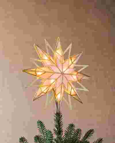 Double-Sided Starburst Christmas Tree Topper by Balsam Hill SSC 10