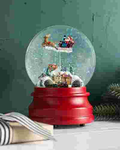 Santas Village Animated Snow Globe by Balsam Hill SSC