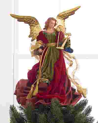 Christmas Angel Tree Topper by Balsam Hill