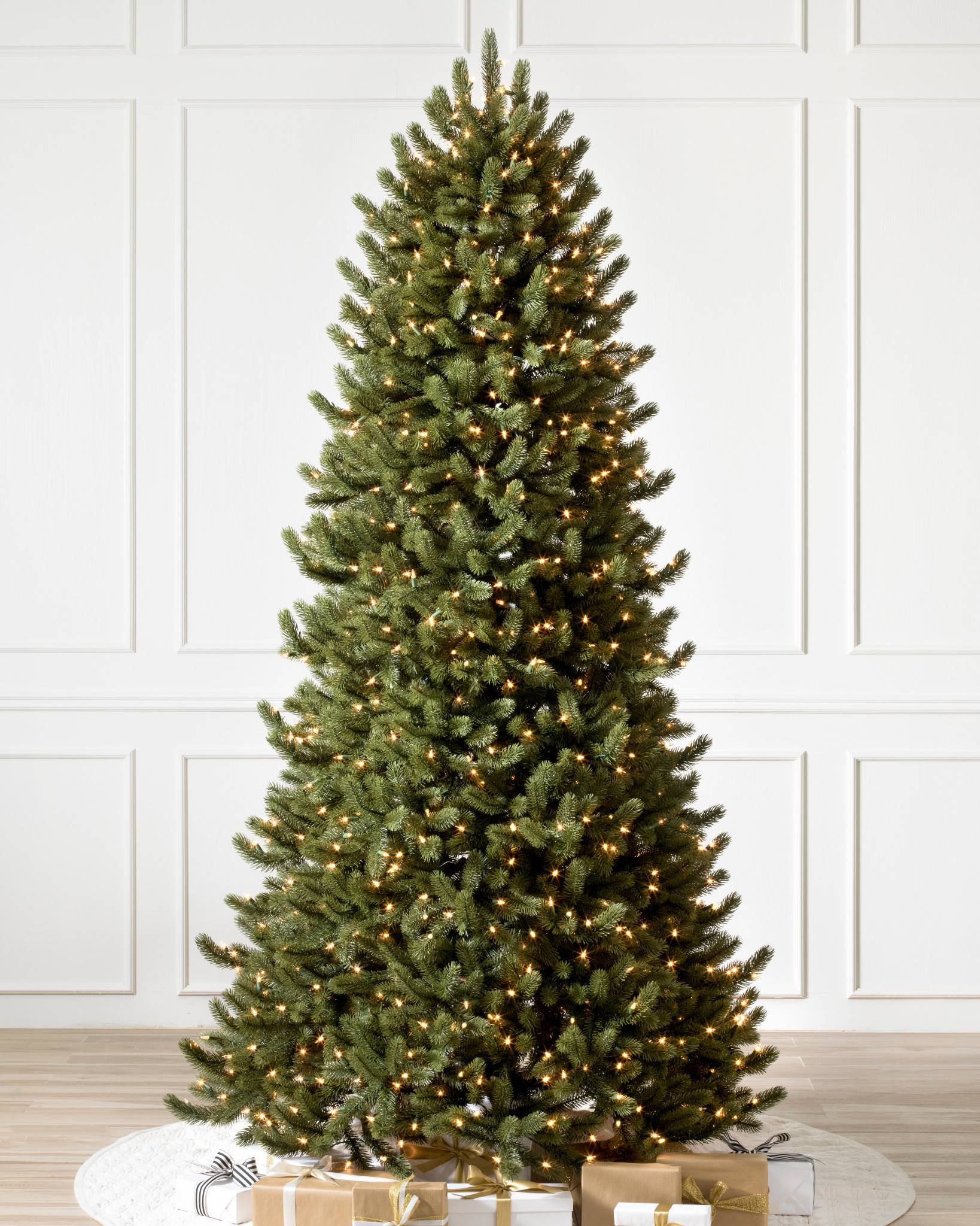 Vermont White Spruce Narrow 11 Candlelight Led Lights