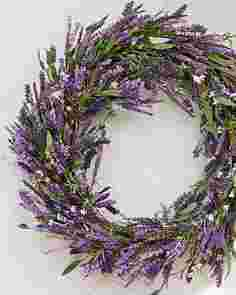 Provencal Lavender Wreath, Garland & Swag by Balsam Hill