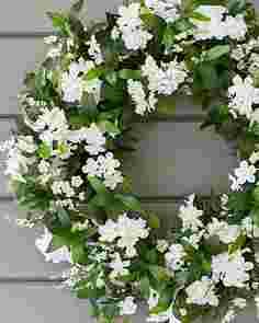 Outdoor White Rhapsody Wreath by Balsam Hill