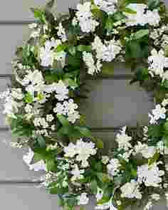 Outdoor White Rhapsody Wreath by Balsam Hill