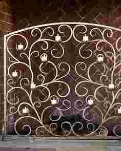 Tea Light Fireplace Screen by Balsam Hill