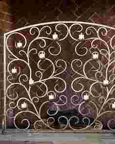 Tea Light Fireplace Screen by Balsam Hill
