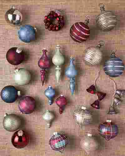 Farmhouse Christmas Ornament Set, 25 Pieces by Balsam Hill