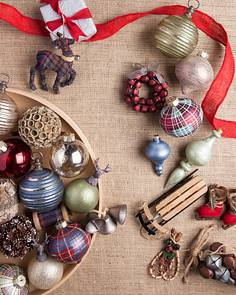 farmhouse christmas ornament set by balsam hill