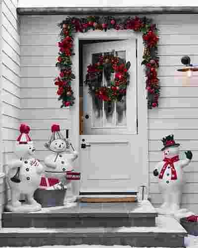 Outdoor Fiber Optic Snowman Band by Balsam Hill