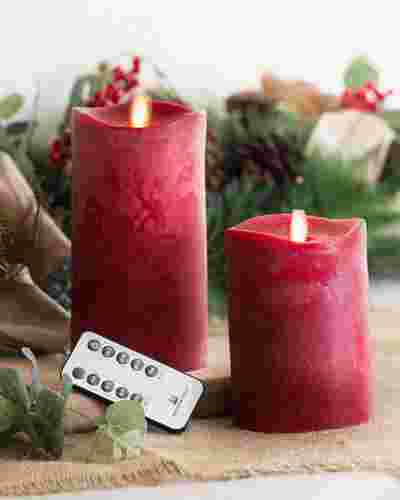Miracle Flame LED Wax Christmas Candles by Balsam Hill