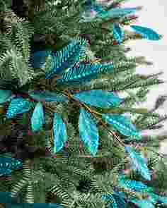 Turquoise Leaves Picks Set of 12 by Balsam Hill