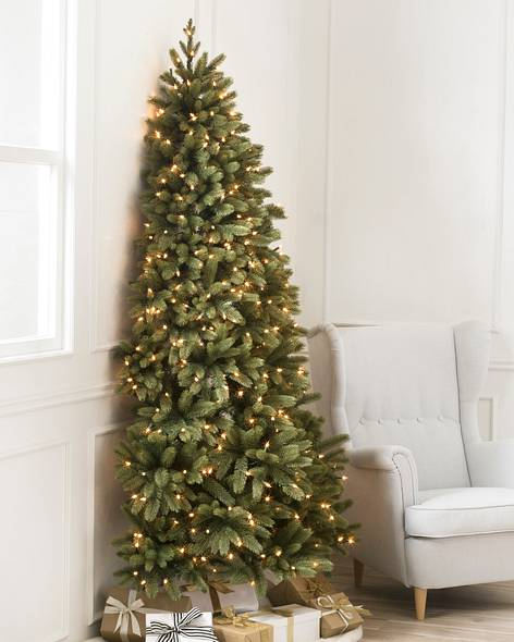 - Flat Back Artificial Christmas Trees Balsam Hill