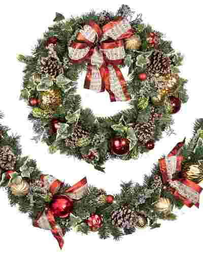 Christmas Carols Wreath And Garland Balsam Hill
