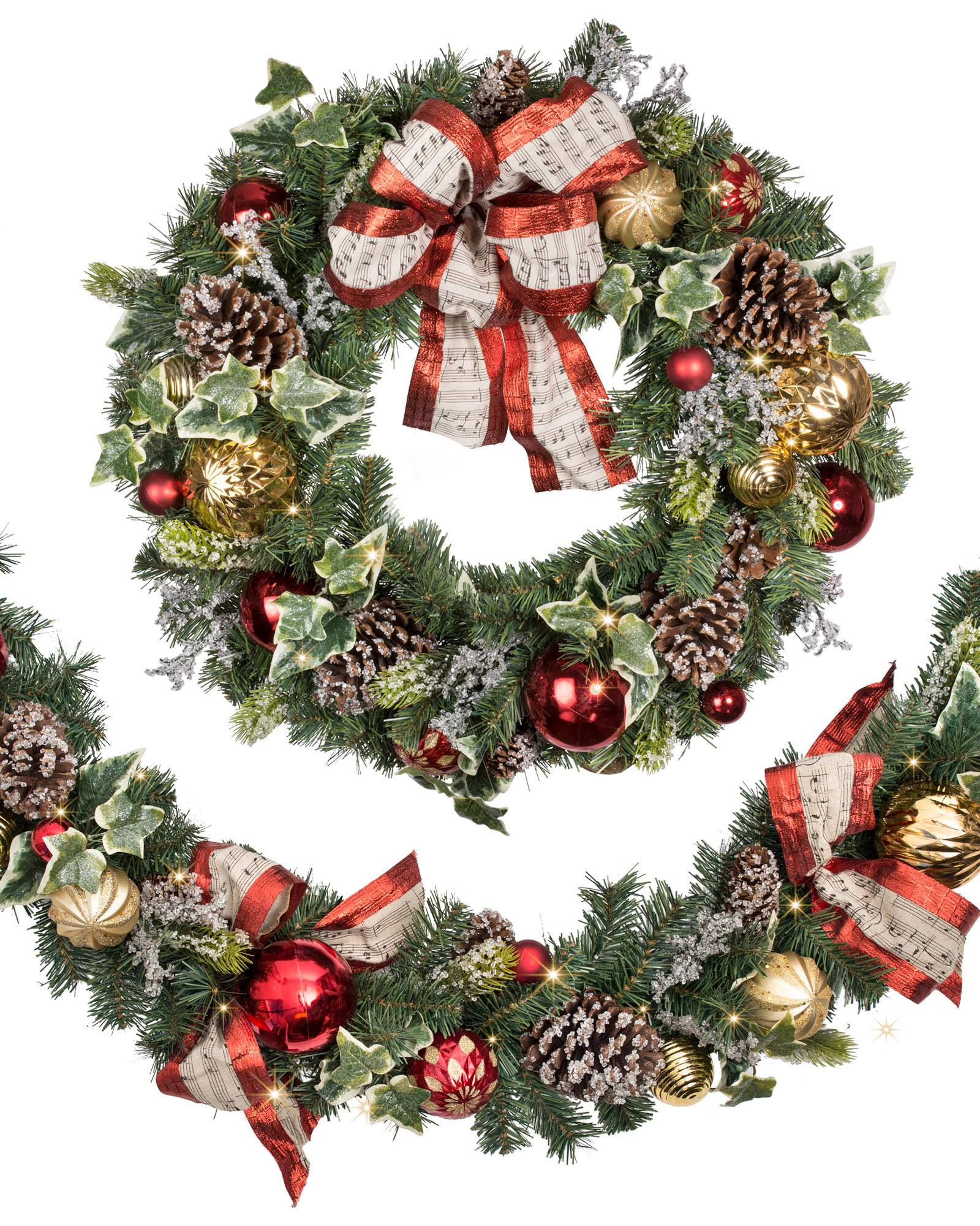 Christmas Carols Wreath and Garland | Balsam Hill