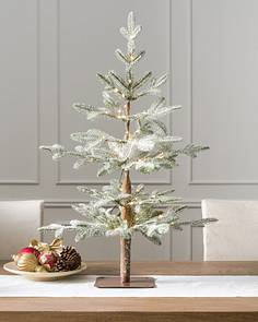 3 Led Frosted Alpine Balsam Fir Tabletop Tree By Hill
