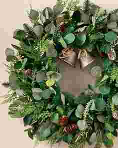 Outdoor Winter Eucalyptus Wreath by Balsam Hill SSCR