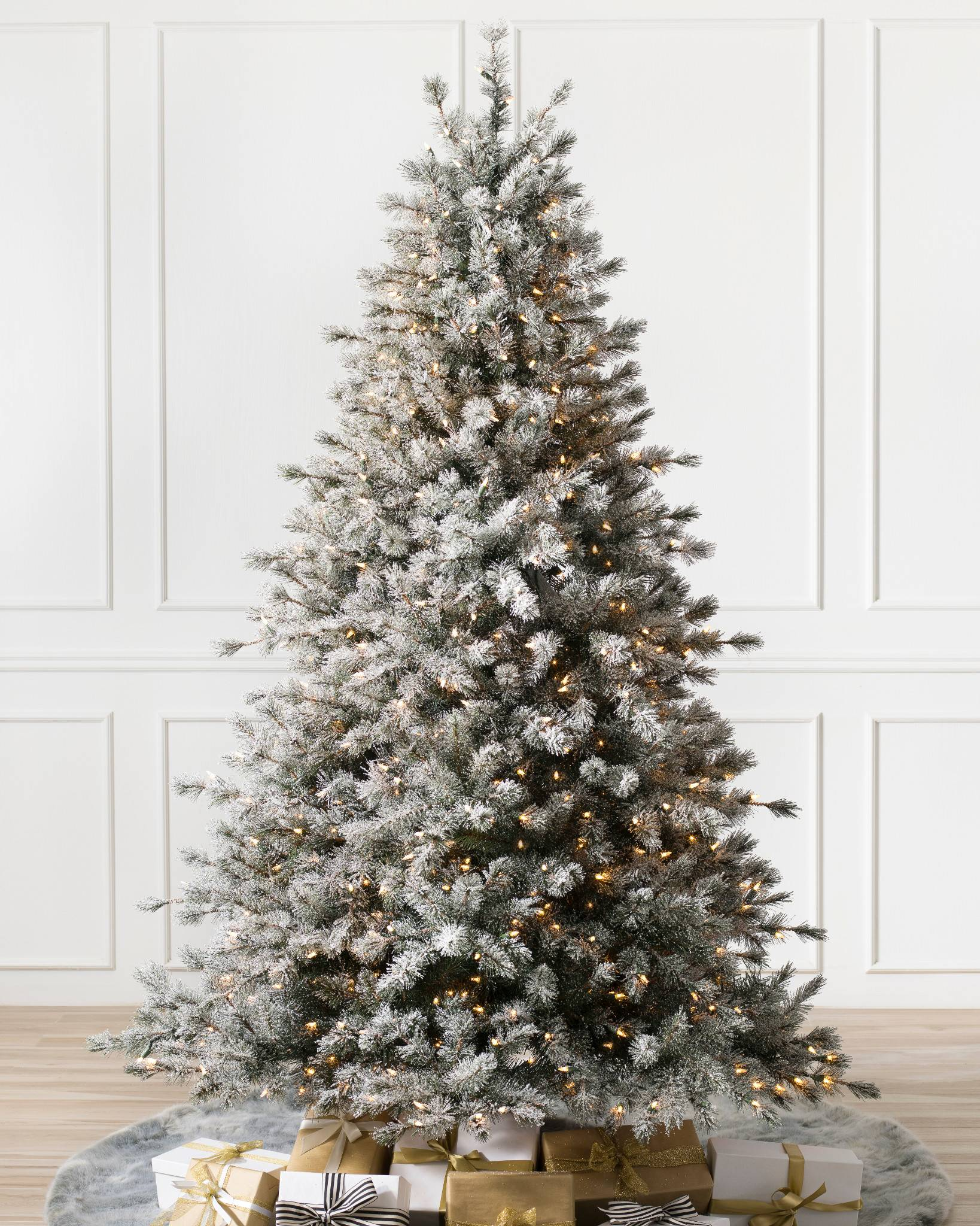 Balsam Hill Christmas Tree Co Reviews.Frosted Sugar Pine Narrow Christmas Tree Balsam Hill