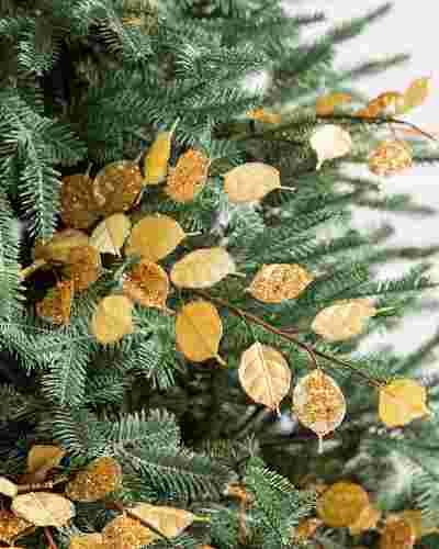 Gold Glitter Silver Dollar Picks Set of 12 by Balsam Hill SSC 10