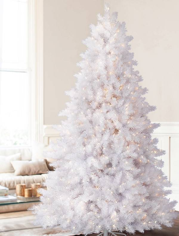White Christmas Tree.Classic White Artificial Christmas Tree Balsam Hill