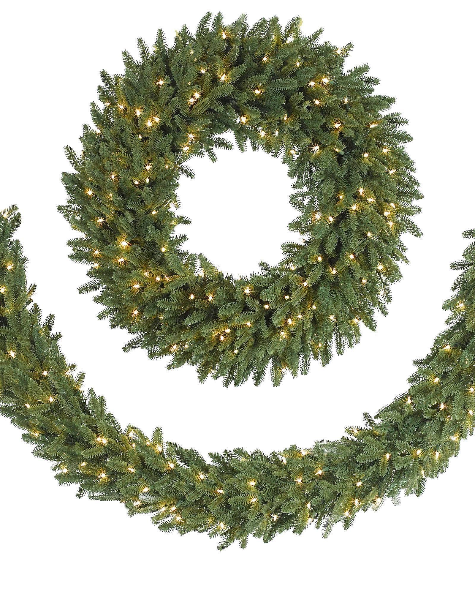Fraser Fir Wreath and Garland   Balsam Hill