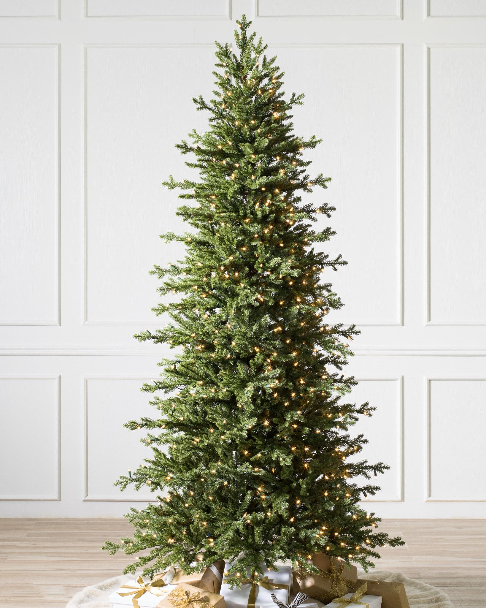 Prelit Artificial Christmas Trees Slimline Pre Artificial