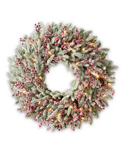 Red Berry Frosted Fraser Fir Wreath