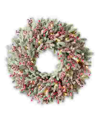 Red Berry Frosted Fraser Fir Wreath by Balsam Hill