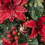 Outdoor Festive Poinsettia Foliage by Balsam Hill Foliage
