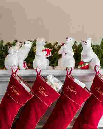 Polar Bear Family Stocking Holder Main