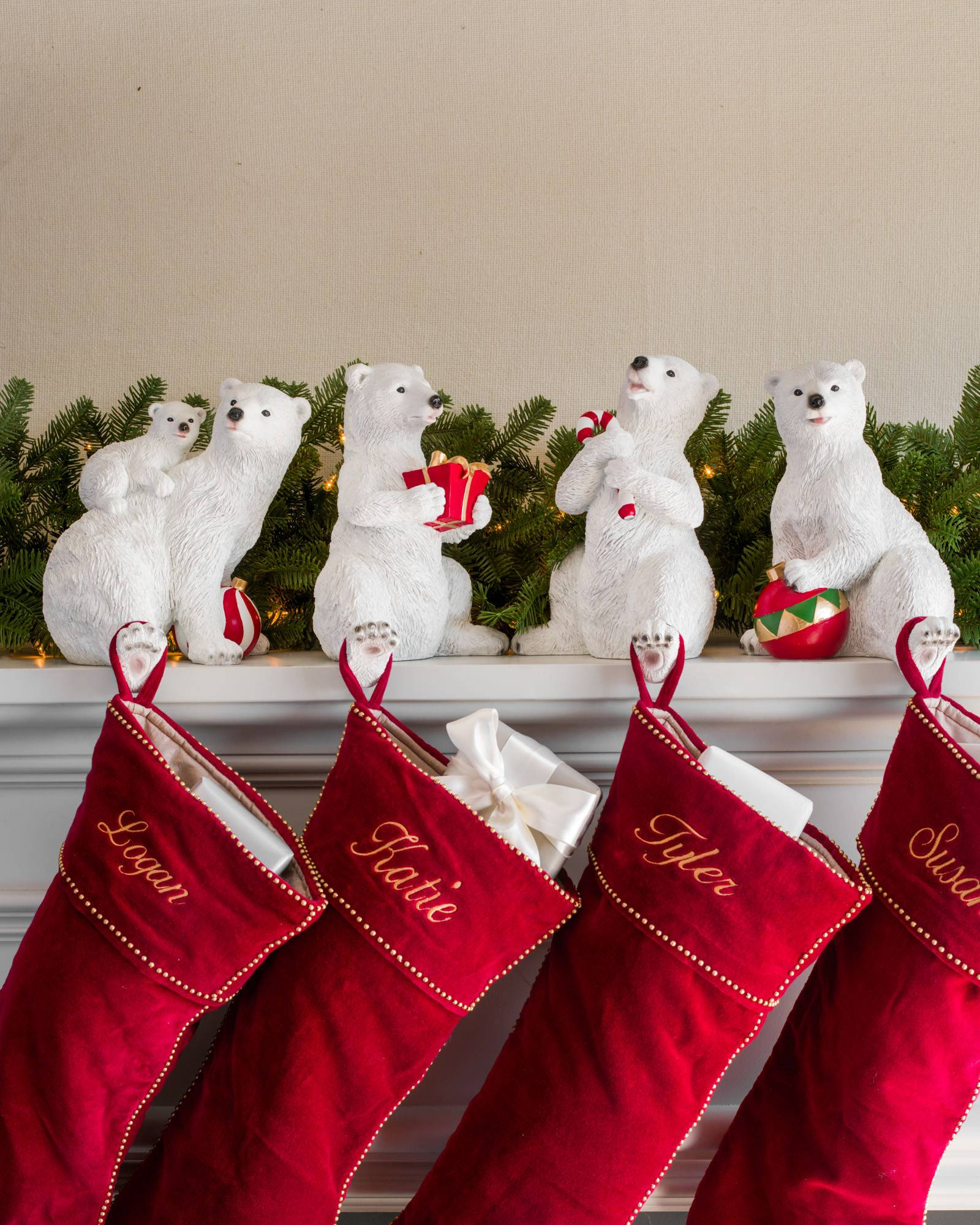 polar bear family stocking holder main - Christmas Socks Decoration