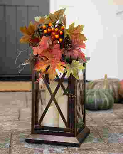 Autumn Leaves Lantern by Balsam Hill
