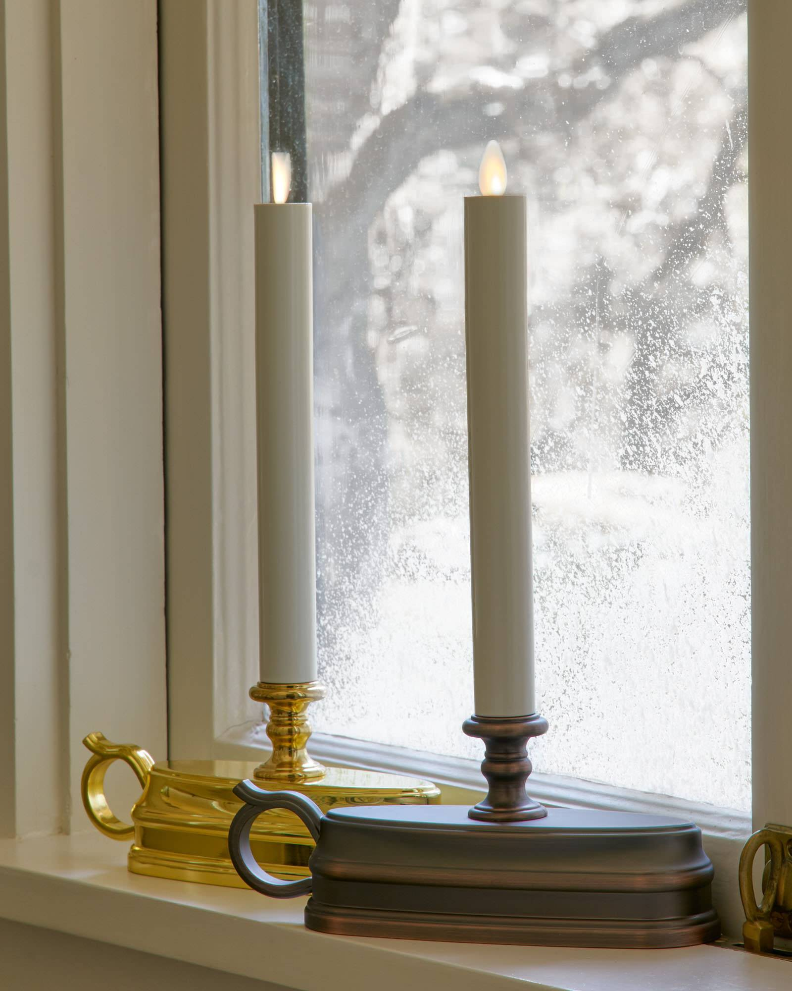 newest 08030 69c0f Miracle Flame Battery-Operated Window Candles | Balsam Hill