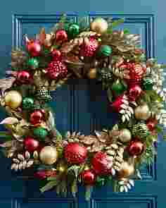 30 Inches Deck the Halls Wreath by Balsam Hill High Res