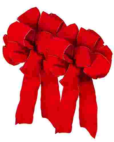 Red Pre-Made Wired Ribbon Bows Alt