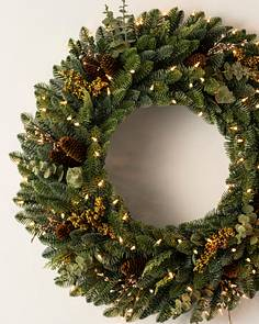 Christmas Foliage with Clear Lights | Balsam Hill