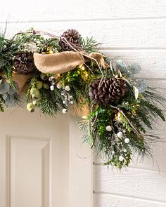 outdoor homestead pine garland by balsam hill - Outdoor Christmas Garland
