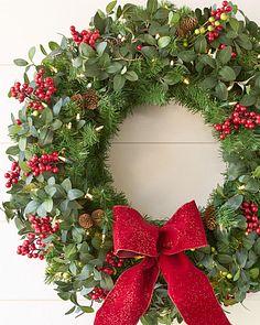 Christmas Reef.Artificial Christmas Wreaths Garlands Foliage Balsam Hill