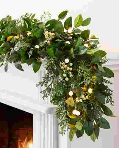 White Berry Cypress Garland by Balsam Hill