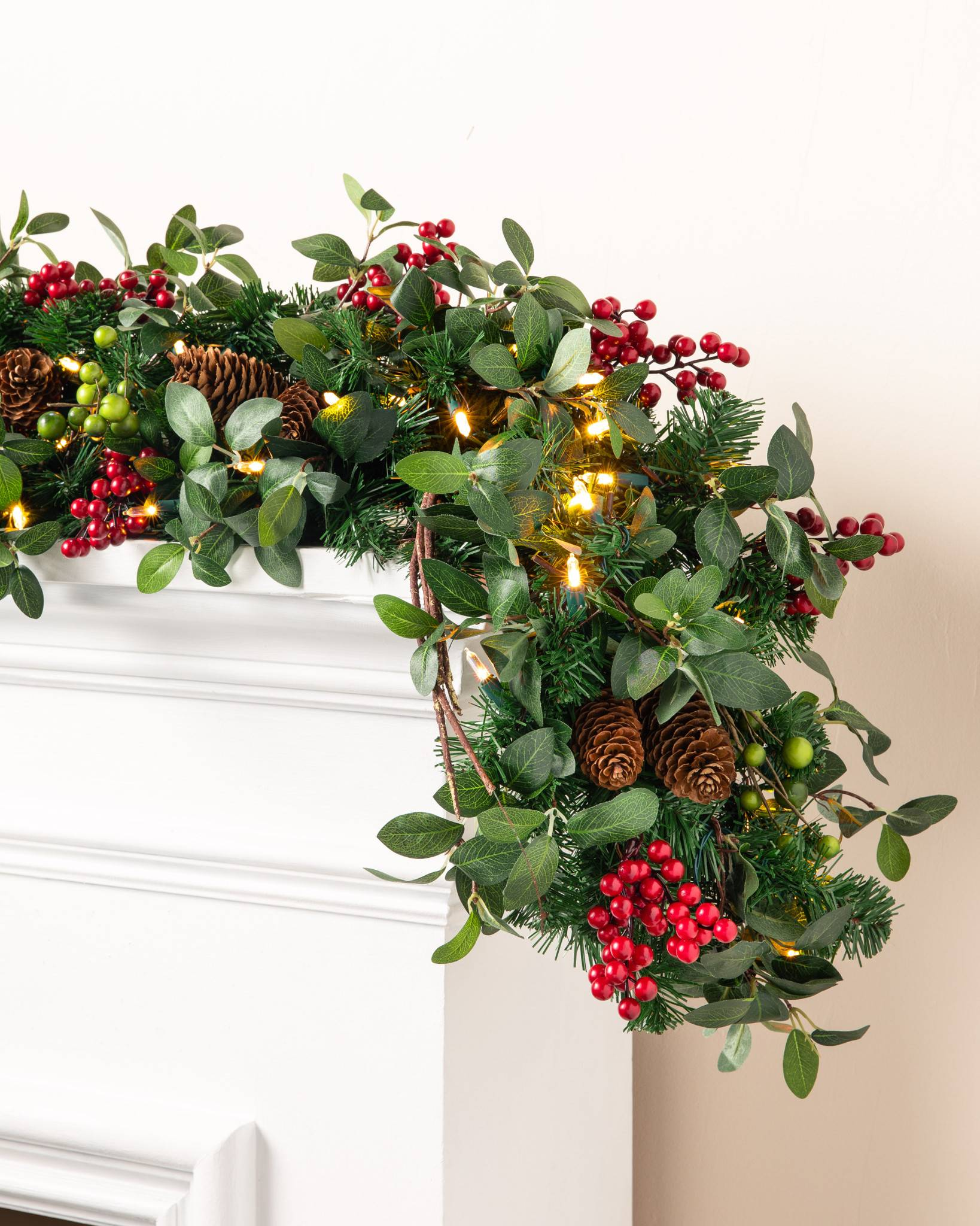 Bay Laurel with Mixed Berries Wreath and Garland | Balsam Hill