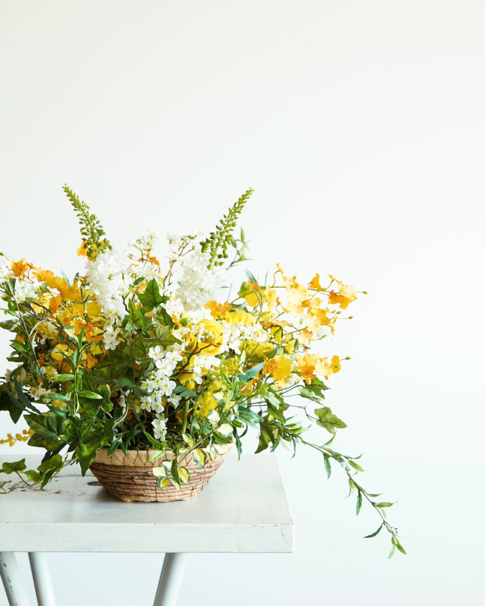 Flower Arrangement In Basket Balsam Hill