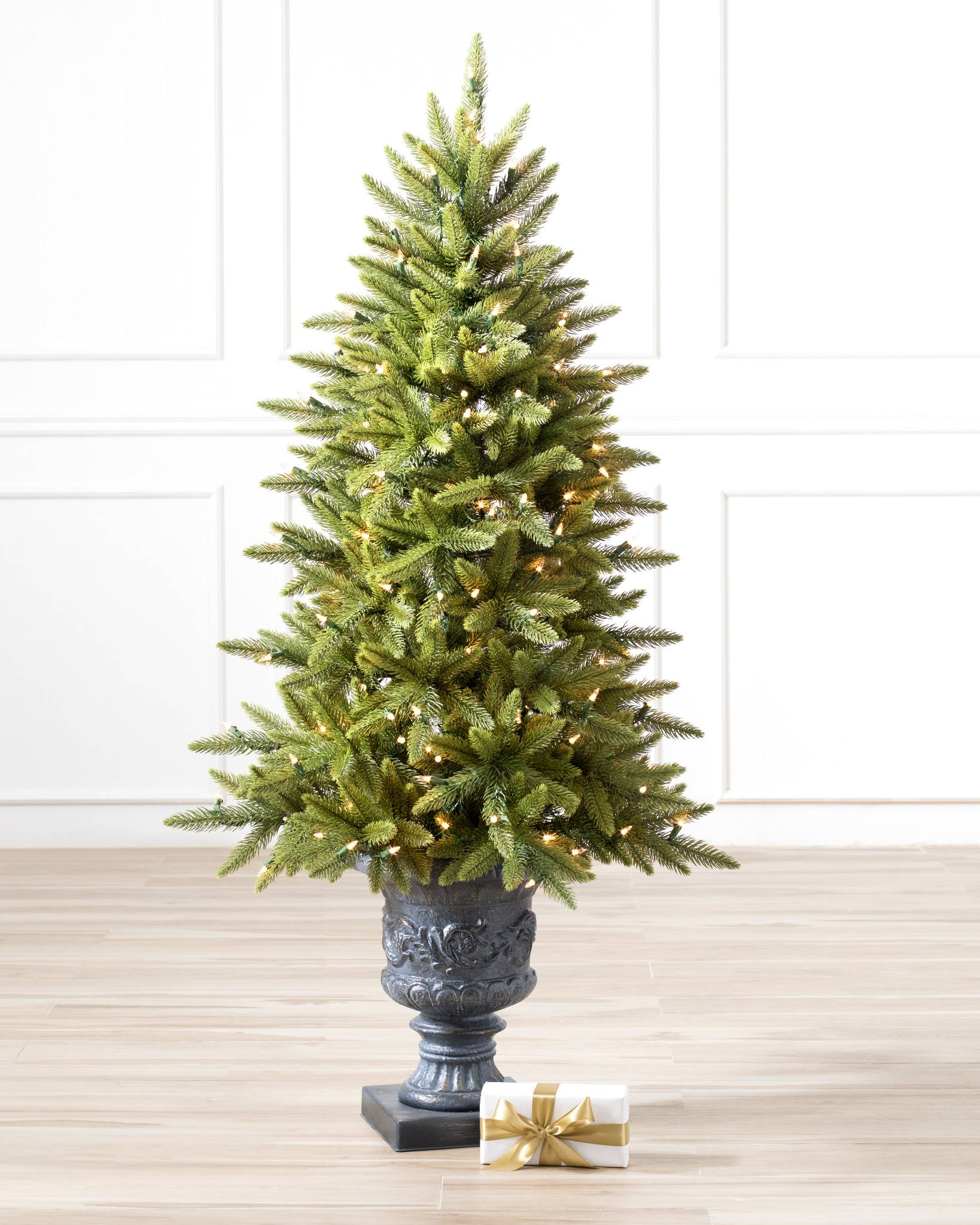 Highland Estate Potted Spruce Artificial Christmas Tree | Balsam Hill