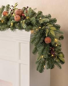 8 to 10 foot christmas garlands balsam hill