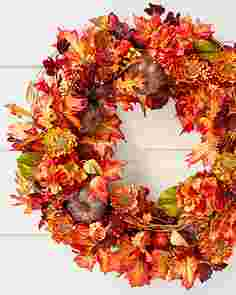 Autumn Medley Artificial Wreath by Balsam Hill