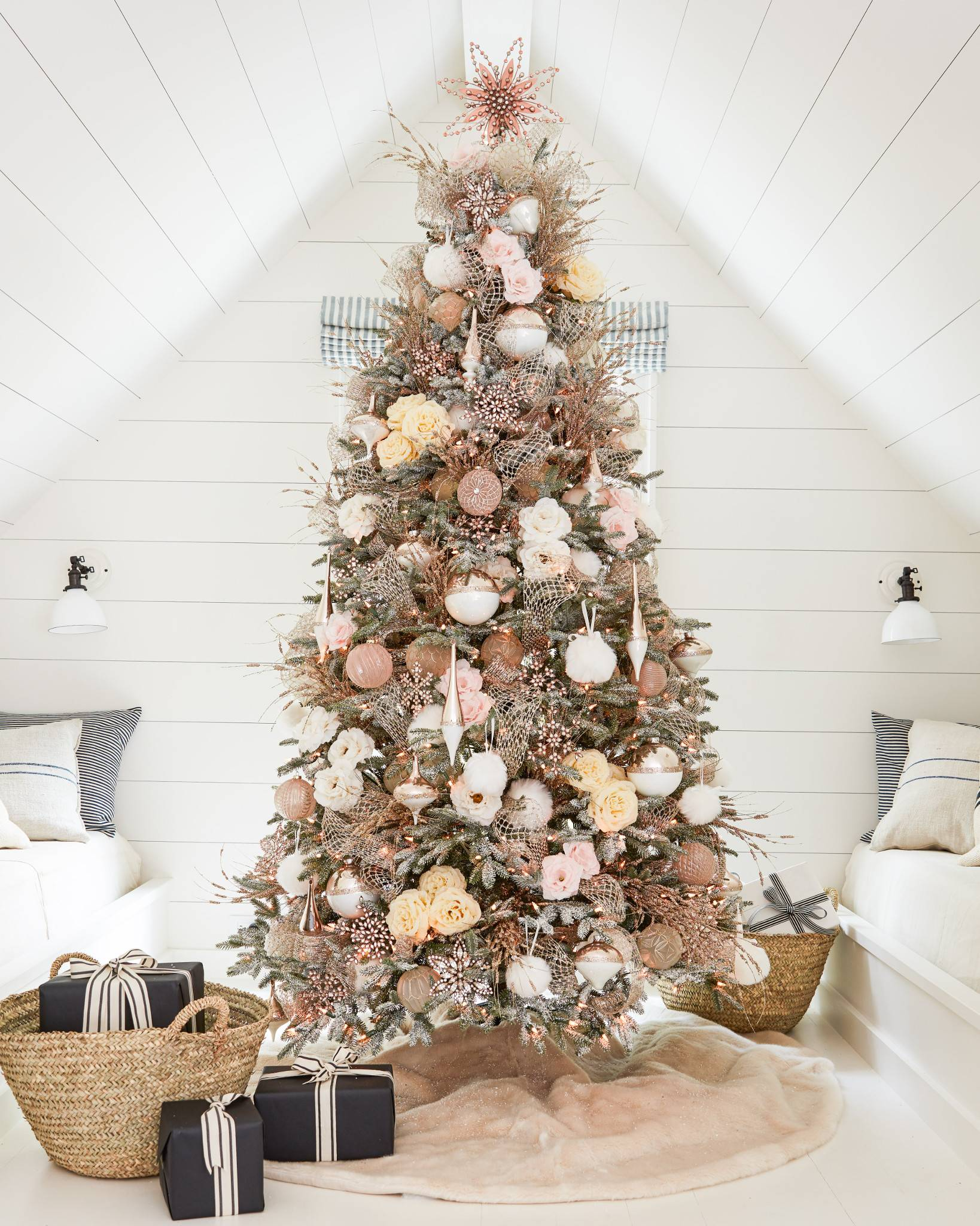 Rose Gold Beaded Tree Topper By Balsam Hill