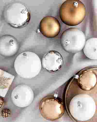 BH Essentials Metallic Ornament Set by Balsam Hill